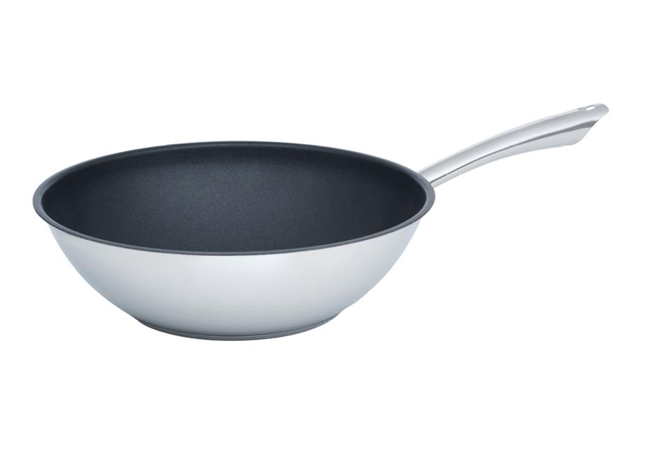 KELOMAT Perfekt stainless steel wok pan