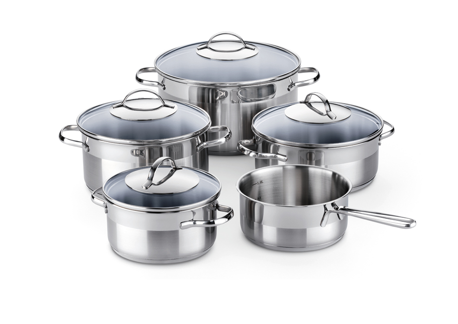5-piece cooking pot set from KELOMAT.